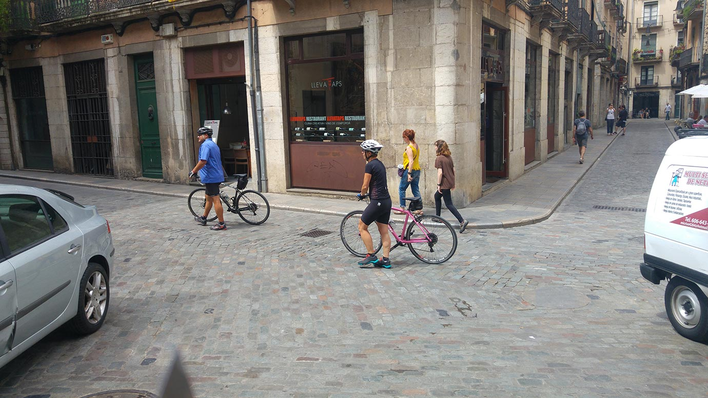 Girona - riding a bicycle