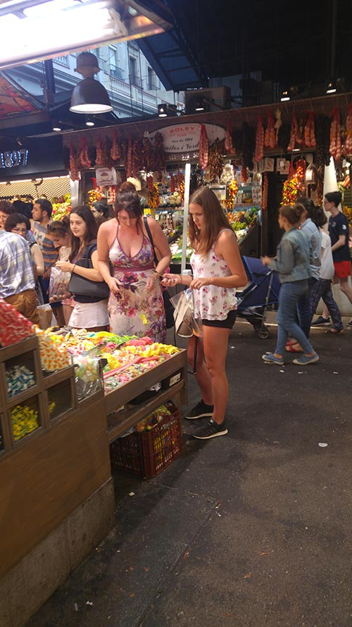 The Boqueria market
